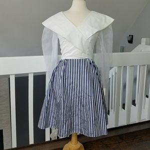 Vintage - Union Made - Blue and White Dress